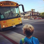 Inara's first day riding the school bus in Laguna Beach, CA
