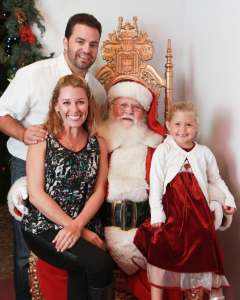 Jayne and her family visit Santa at Sawdust. Photo credit: Mary Hurlbut