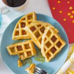 Bacon-Cheddar-Waffles