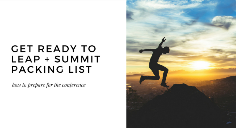get ready to leap + summit packing list