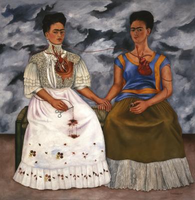 Frida Kahlo_The Two Fridas (Las dos Fridas)